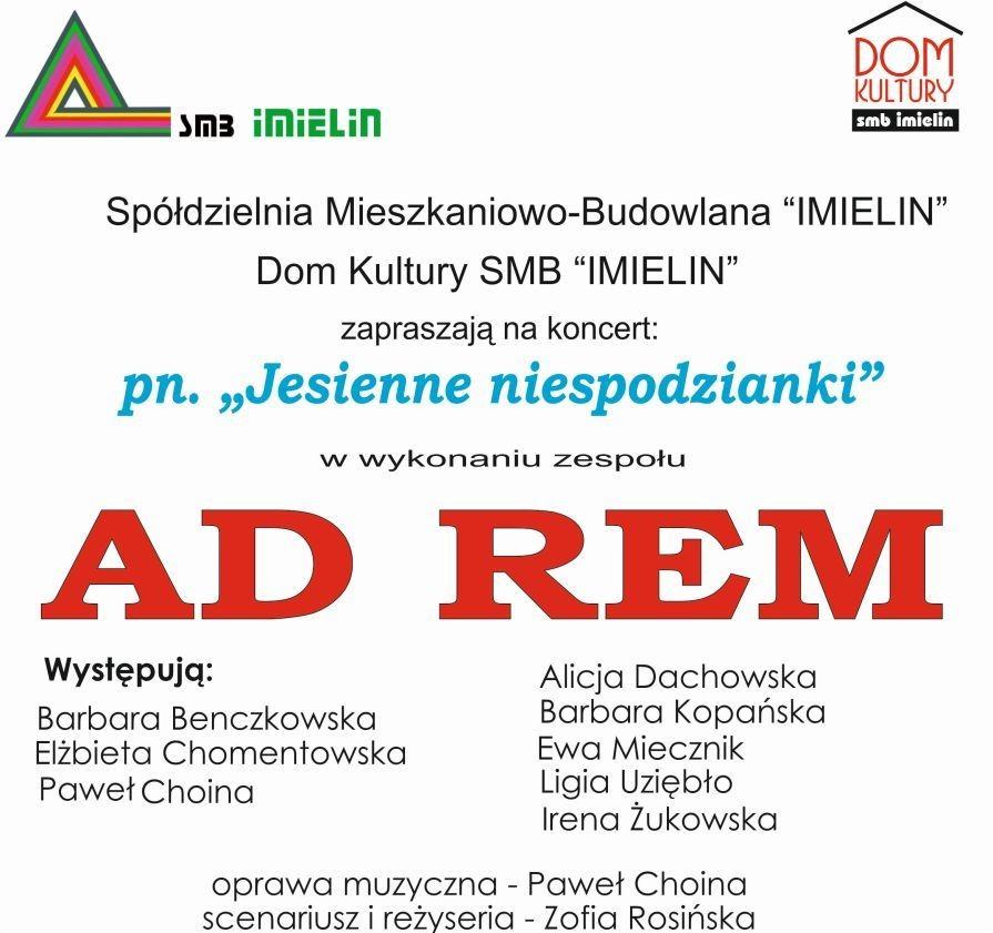 Afisz AD REM 29.11