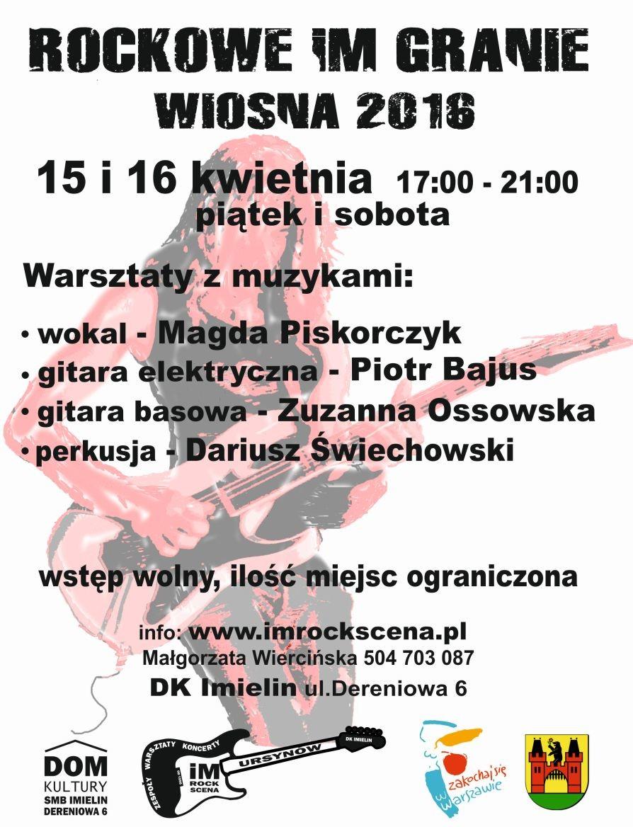 Warsztaty WIOSNA 2016
